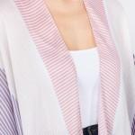 Wholesale women s Lightweight Geometric Stripe Tassel Kimono One fits most L Pol