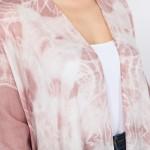Wholesale women s Lightweight Tie Dye Frayed Kimono One fits most L Viscose