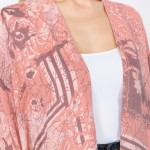 Wholesale women s Lightweight Floral Print Kimono One fits most L Viscose