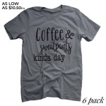 Wholesale charcoal Grey Anvil Lightweight brand short sleeve Coffee Sweatpants K