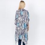 Wholesale women s Lightweight Floral Zebra Print Kimono One fits most L Viscose
