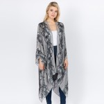 Wholesale women s lightweight snakeskin kimono One fits most L Viscose