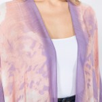 Wholesale women s Lightweight Abstract Tie Dye Kimono One fits most L Viscose