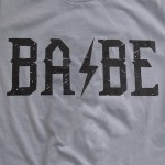 Wholesale storm Grey Bella Canvas brand rock n roll BABE screen printed boutique