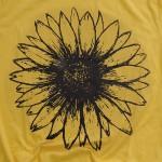 Wholesale mustard Bella Canvas Brand Short Sleeve Sunflower Printed Boutique Gra