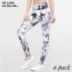 Wholesale women s Active Buttery Soft Tie Dye Workout Leggings o Elasticized poc