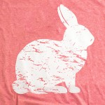 Wholesale gildan Softstyle brand short sleeve Distressed Easter Bunny printed bo