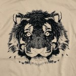 Wholesale tan Bella Canvas Brand Short Sleeve Tiger Printed Boutique Graphic Tee