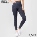 Wholesale women s Rise Stone Wash Vertically Curved Seamless Workout Tights o El