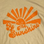 Wholesale stone Anvil Lightweight Brand Be Sunshine Printed Boutique Graphic Tee