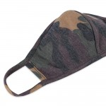 Wholesale kIDS Reusable Camouflage T Shirt Cloth Mask Seam Machine Wash Cold Mil