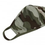 Wholesale reusable Camouflage T Shirt Cloth Mask Seam Machine Wash Cold Mild Det