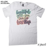 Wholesale girl Can Do Hard Things Printed Graphic Tee Anvil Lightweight Brand S
