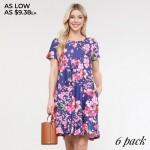 Wholesale women s Cherry Blossom Print Dress o Round neckline o Cherry print o S