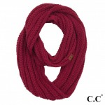 Wholesale c C INF Solid Ribbed Knit Infinity Scarf One Acrylic
