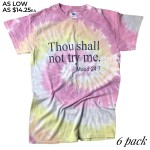 Wholesale thou Shall Not Try Me Mood Printed Tie Dye Graphic Tee Printed ColorT