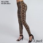 Wholesale women s Classic Snakeskin Leggings PACK o Elasticized rise waistband o