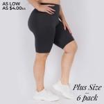 Wholesale women s Plus Peach Skin Biker Shorts Pack o Peach Skin o Short leg o C