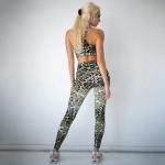 Wholesale women s Active Feline Leopard Print Workout Leggings XL ONLY o rise el