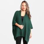 Wholesale women s Fall Winter Knit Kimono One fits most L Acrylic