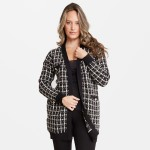 Wholesale women s Tweed Knit Cardigan Front Pockets One fits most L Viscose Poly