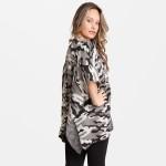 Wholesale women s Camouflage Knit Kimono One fits most L Acrylic