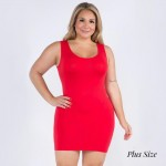 Wholesale women s Plus Seamless Tank Slip Dress o Sleeveless o Scoop neckline o
