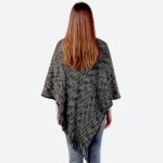 Wholesale women s Marled Knit Poncho Fringe Tassels One fits most L Acrylic Poly
