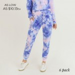 Wholesale women s Tie Dye Lounge Jogger Pants PACK PANTS ONLY o Banded cuffs o D