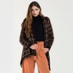 Wholesale do everything Love Brand Multicolor Yarn Knit Cardigan Tassel Trim Cuf