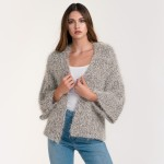 Wholesale do everything Love Brand Short Fuzzy Metallic Knit Cardigan One fits m
