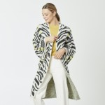 Wholesale do everything Love Brand Fuzzy Knit Zebra Print Cardigan One fits most