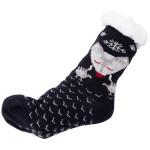 Wholesale assorted Fox Print Sherpa Slipper Socks Pack One fits most Non slip Do