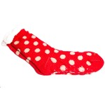 Wholesale assorted Polka Dot Sherpa Slipper Socks Pack One fits most Non slip Do