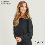 Wholesale women s Relaxed Drop Shoulder Long Sleeve Top Pack Top ONLY o Long sle