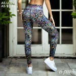 Wholesale women s Active Iridescent Snakeskin Workout Leggings Pack o rise elast