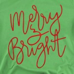 Wholesale merry Bright Christmas Graphic Tee Printed Anvil Lightweight Brand Tee