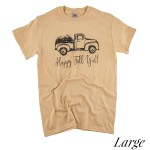 Wholesale happy Fall Ya ll Truck Graphic Tee LARGE ONLY Printed Gildan Heavy Cot