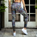 Wholesale women s Active XL Iridescent Snakeskin Print Workout Leggings Pack XL