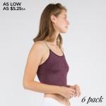 Wholesale women s Seamless Acid Wash Crop Camisole Pack o Skinny elasticized rol
