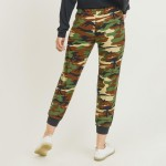 Wholesale women s Rise Camouflage Joggers Pack o rise drawstring waistband o Two