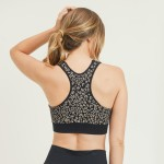 Wholesale women s Active Seamless Cheetah Print Sports Bra Pack LARGE ONLY o Sco