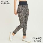 Wholesale women s Active Seamless Cheetah Print Leggings Pack XL ONLY o Rib knit