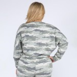Wholesale women s XL Relaxed Fit Vintage Camouflage Lounge Top Pack XL Top ONLY