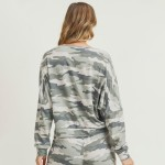 Wholesale women s Relaxed Fit Vintage Camouflage Top Pack Top ONLY o Dropped sho