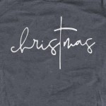 Wholesale christmas Script Graphic Tee Printed Gildan Softstyle Brand Tee Color
