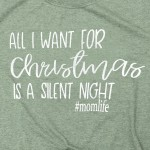 Wholesale silent Night Christmas Graphic Tee Pack Printed Gildan Softstyle Brand