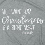 Wholesale silent Night Christmas Graphic Tee Pack Printed Gildan Softstyle Brand