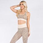 Wholesale women s Active Seamless Cheetah Print Sports Bra Pack Bra ONLY o Scoop