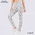 Wholesale stretchy lightweight rise leggings feature fashionable camouflage prin